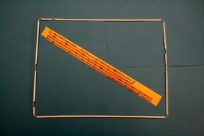 IPAD 3 display ram med lim stickers Vit - Ram till ipad 3