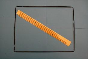IPAD 4 display ram med lim stickers Svart - Ram till ipad 4