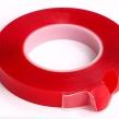 3mm Röd hög kvalite transparant dubbelhäftande tejp