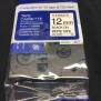 Märkband Kompatibel Till Brother P-Touch 12mm x 8m Svart på vitt - Svart på vitt 12mm