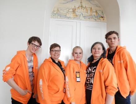 FV: Viggo Hangård, Moa Rönngren, Josefine Ahlström, Anna K. Liljeblad och Carl Toreborg