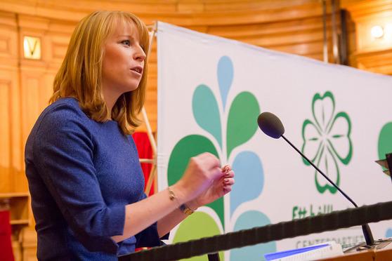 Ruotsin Keskustapuolueen puoluejohtaja Annie Lööf. Kuva: Per Pettersson / Centerbilder 2013