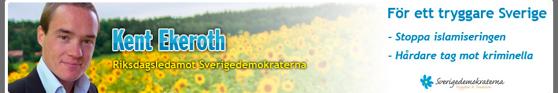 Kent Ekeroth on Ruotsidemokraattien yksi maahanmuuttokriittisimmistä edustajista. Kuva: Kuvakaappaus Kent Ekerothin blogista.