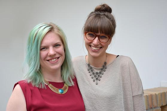 Sara Kaluzca ja Moa Eriksson aloittivat podcastin teon keväällä 2015. Kuva: Ulrika Sahlén.