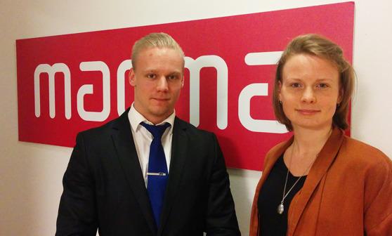 Juho Ojares ja Elin Johansson suosittelevat Magma-akatemian kurssia kaikille yhteiskunnasta kiinnostuneille.