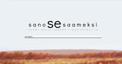 Skärmdump från Sano se saameksi-sajten.