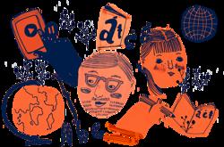Projektin kautta Katri Koivula haluaa inspiroida muita oppimaan saamen kielistä ja kulttuurista. Kuvitus: Lille Santanen.