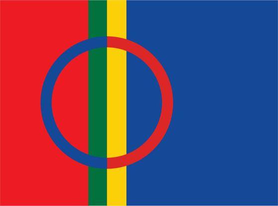 Saamelaisten lippu.