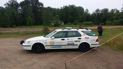 Samaritbilen på plats som säkerhetsresurs under evenemang med Hjärtebarnsfonden i Torpabygden, juli 2015. Uppskattad trygghet!