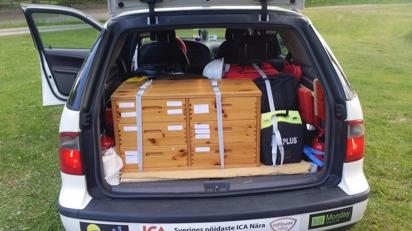 Ny organiserad utrustningsbox (som den såg ut juni 2015).