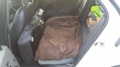 Bilen har 3 sittplatser plus särskild plats för djurtransporter.