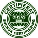 Certifikat Arbetsmiljö