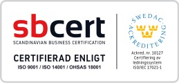 ISO certifierade