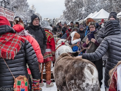 Lappland. Jokkmokks marknad. Foto: Lars Haarala