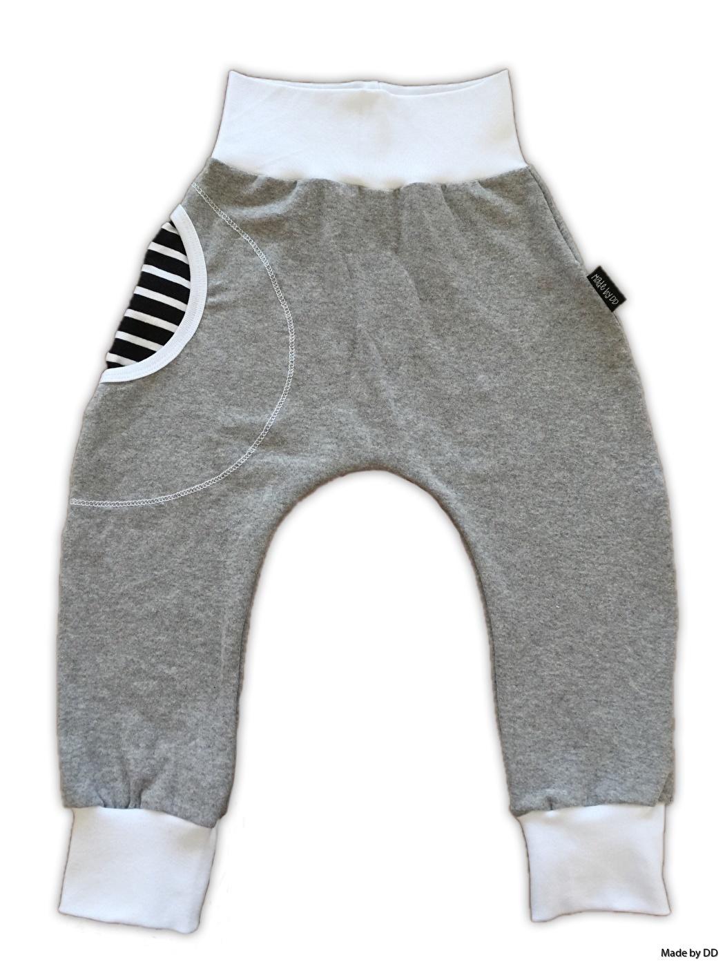 Baggy harem mudd byxor made by dd grå med ficka eko gots
