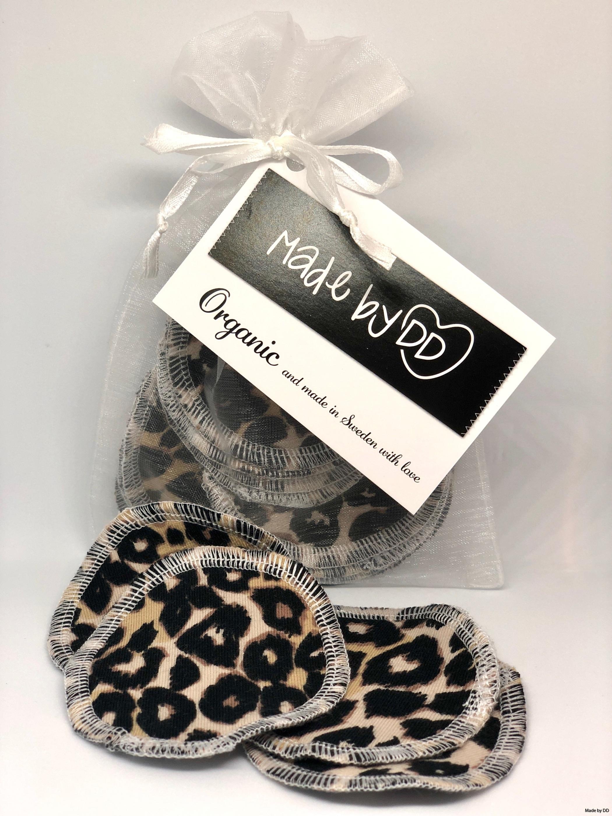 Rengöringspads Made by DD bomullsrondeller återanvändbara leopard eko
