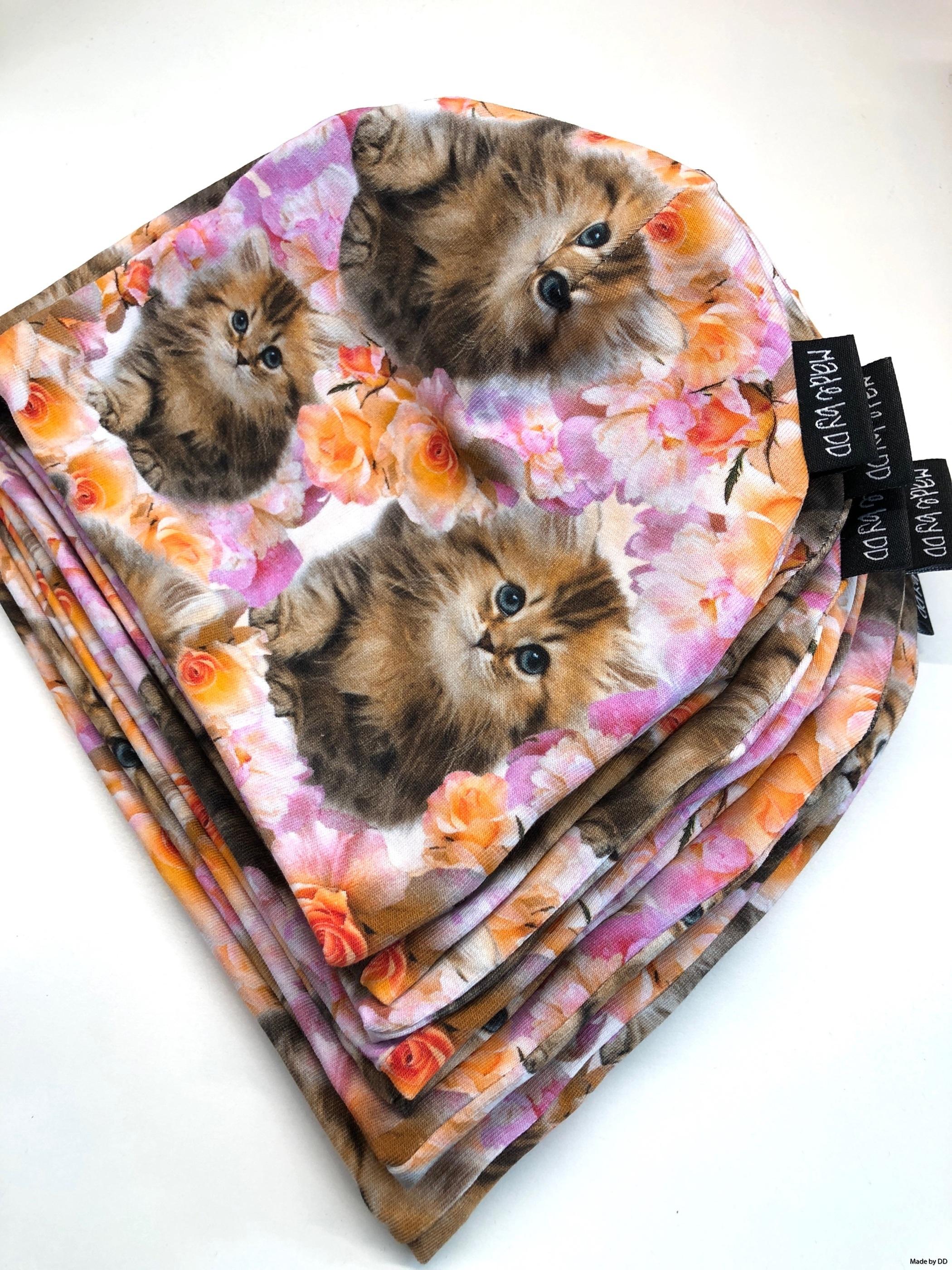 Mössor ekologiska GOTS cats katter Made by DD