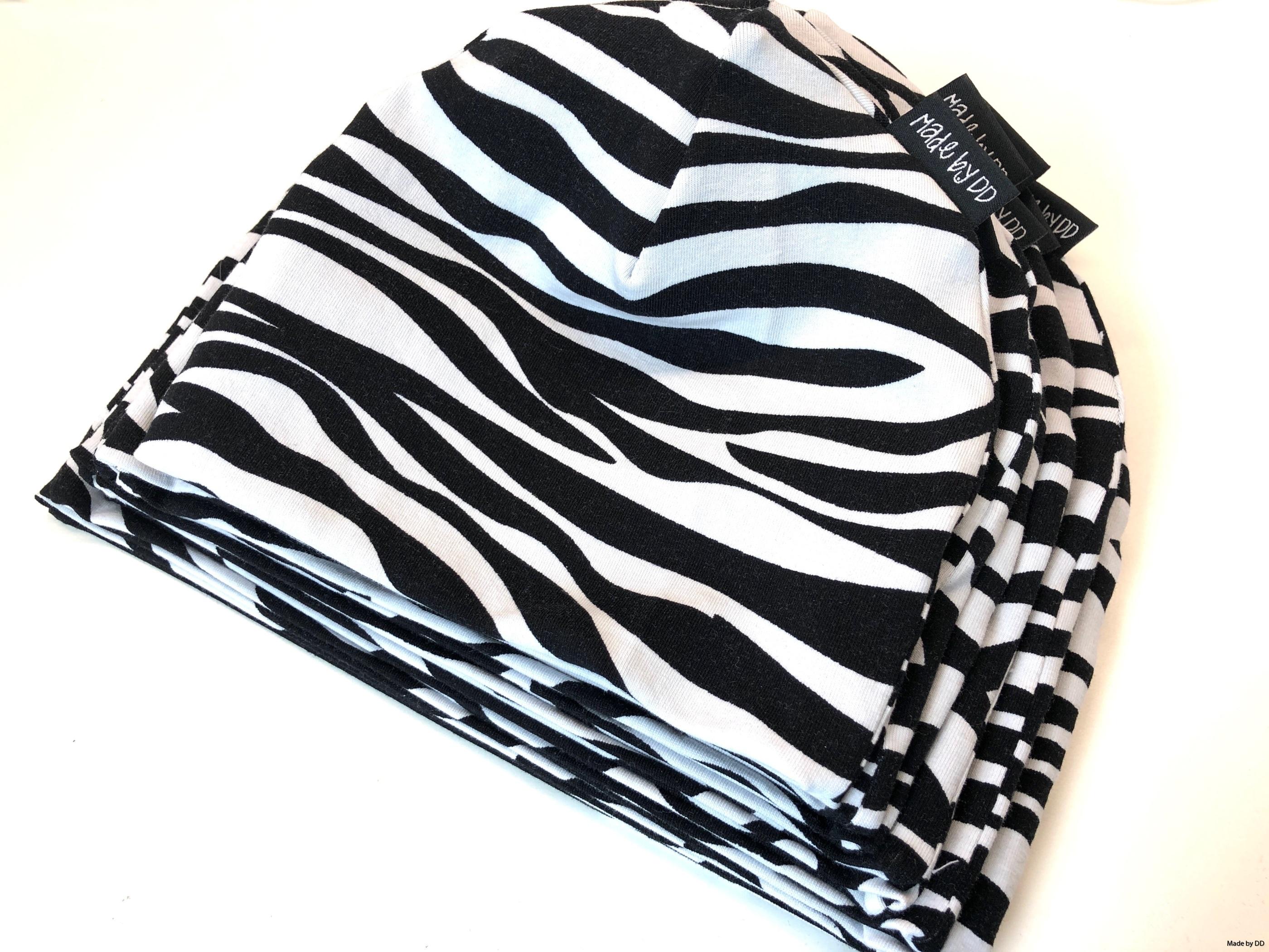 Mössor zebra Made by DD eko GOTS