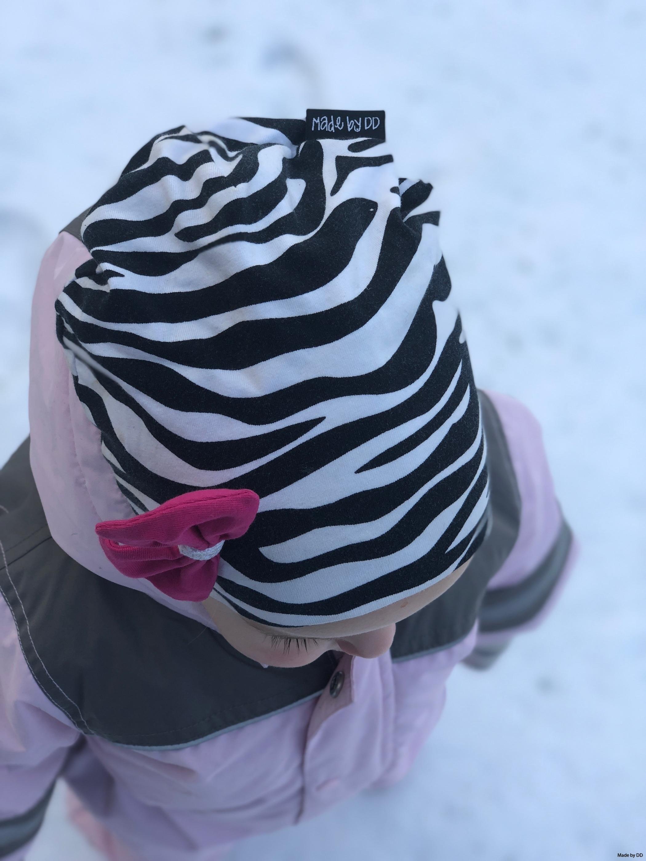 Inspirationsbild mössa beanie zebra eko Made by DD
