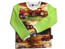 REA! Tröja Traktor / Lime ärmar