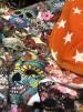 REA! Filt Flowersculls/Orange stjärnor