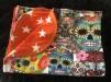 REA! Filt Flowersculls/Orange stjärnor - REA Filt Flowersculls/Orange stjärnor