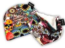 Set mössa och halsduk flowersculls 0-6 mån