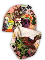 Set mössa och halsduk Neon sculls 1-3 år