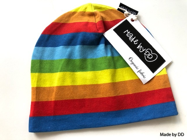 Mössa rainbow stripes Made by DD eko