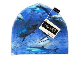 Mössa Sharks - REA köp direkt - 0-6 månader (ca 36 cm) Mössa Sharks