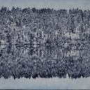 """""""Efter första snöfallet"""" 16,5 x 19 cm"""