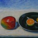 """""""Upprörd mango"""" 39 x 44 cm"""