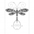 Patternful dragonfly kdillustrationdesign