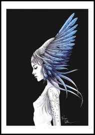 Feather girl blue