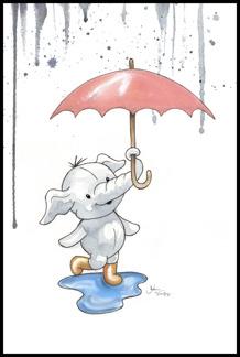 Elefant i regn