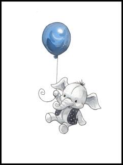 Elefant med ballong