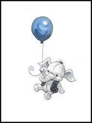 Elephant with balloon