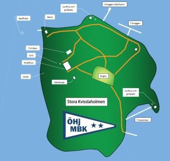 Orienteringskarta Stora Kvisslaholmen