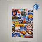 Benton har också valt att göra ett collage med saker som han tänker på när han hör Finland.
