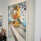 Anton Wiraeus har en konstbastu på hjul, här har han målat en sådan.