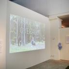 """Lina Puranens film """"lär dig finska på 10 minuter"""" visas också under utställningen."""