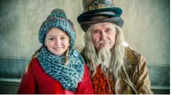 Julkalendern Selmas Saga har sverigefinska Ester Vuori i huvudrollen. Foto:SVT