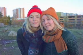 Maija och Lina. Foto: Sebastian Paco Dahlstrand