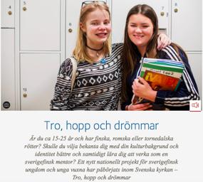 Bild från Svenska kyrkans hemsida om projektet