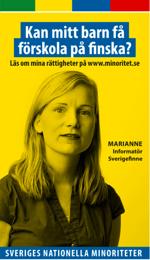 En av annonserna. Foto från minoritet.se