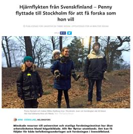 Skärmdump från Svenska Yle