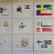 Flaggor är ett populärt motiv.