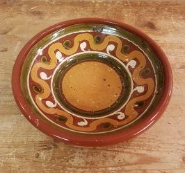 Mänstrad skål Nittsjö. Ettikettsignerad (+ i botten). Höjd 5 cm, diam. 20 cm. Gott skick. 50 SEK