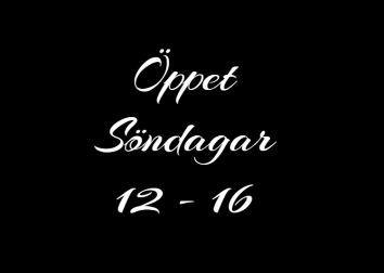 Öppet söndagar 12 - 16