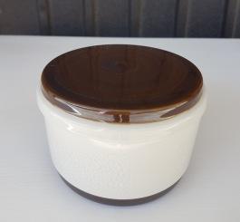 """Liten skål med lock """"Forma"""" Rörstrand. Höjd inkl. lock 8 cm. Diam. 12 cm. Fint skick. 100 SEK"""